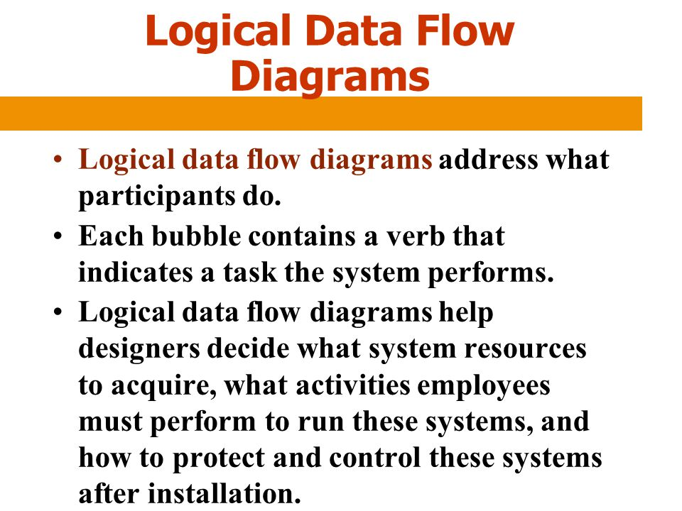 Logical Data Flow Diagrams