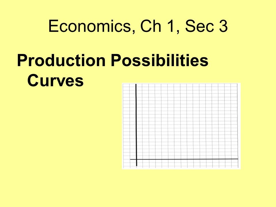 Economics, Ch 1, Sec 3 Production Possibilities Curves