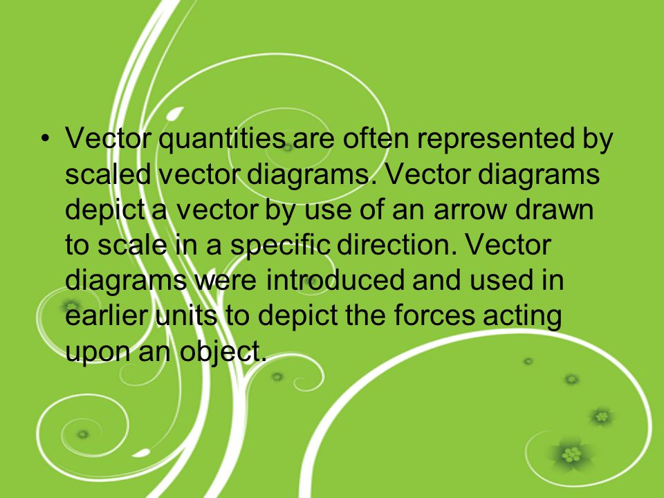 Vector quantities are often represented by scaled vector diagrams