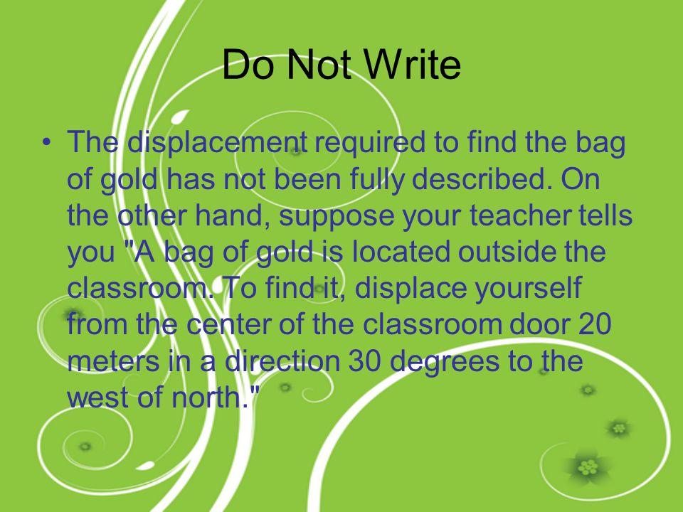 Do Not Write