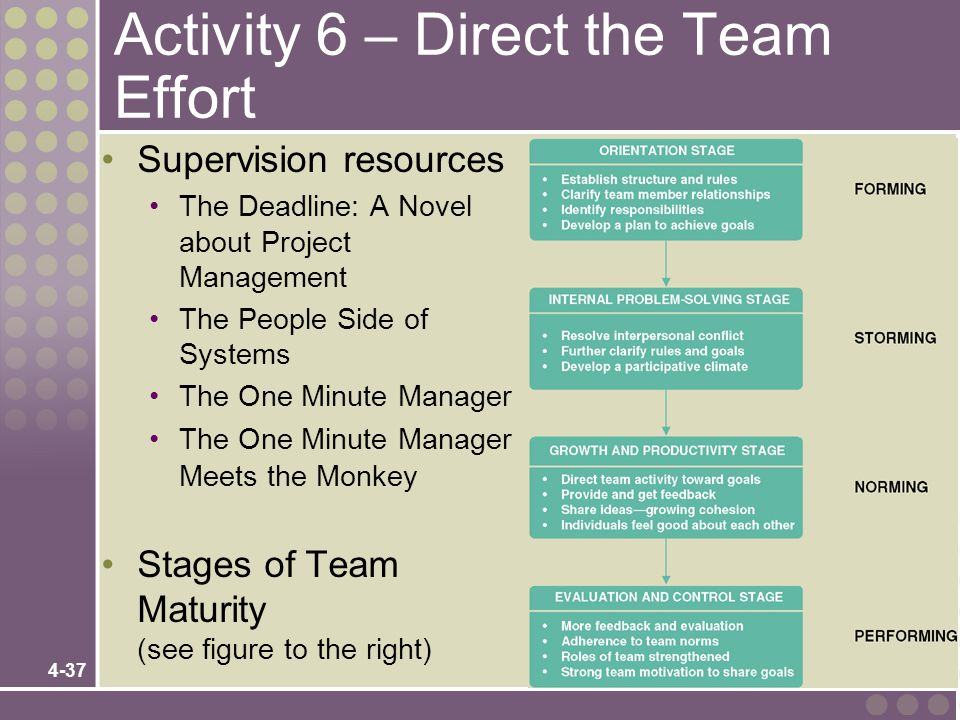 Activity 6 – Direct the Team Effort