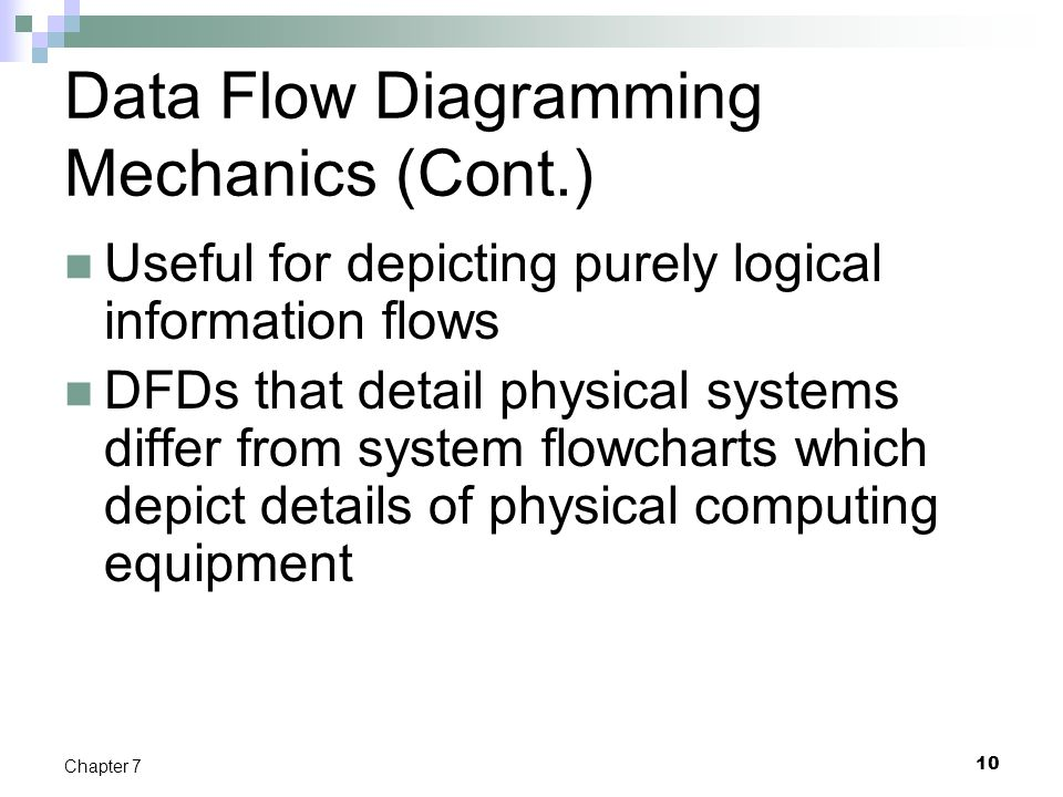 Data Flow Diagramming Mechanics (Cont.)