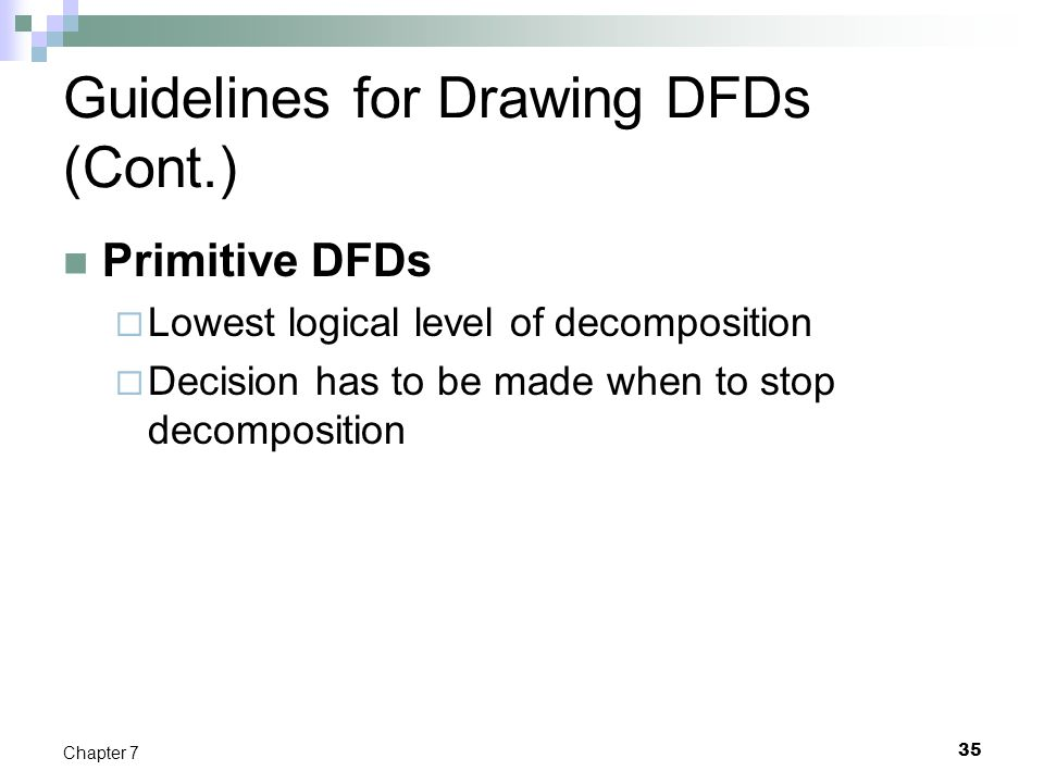 Guidelines for Drawing DFDs (Cont.)