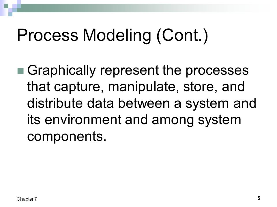 Process Modeling (Cont.)
