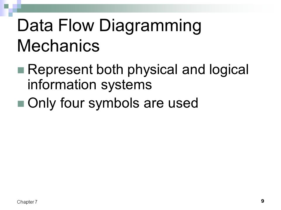 Data Flow Diagramming Mechanics