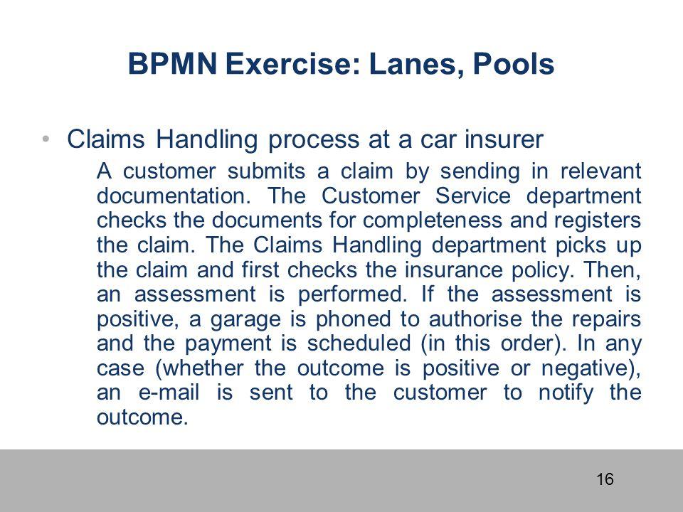 BPMN Exercise: Lanes, Pools