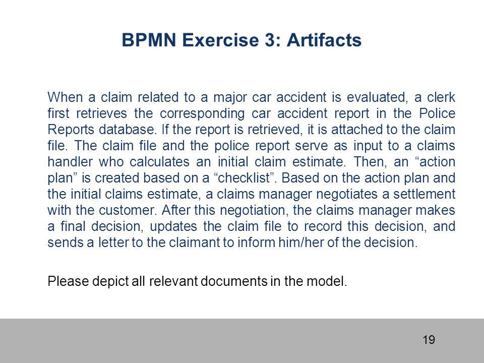 BPMN Exercise 3: Artifacts