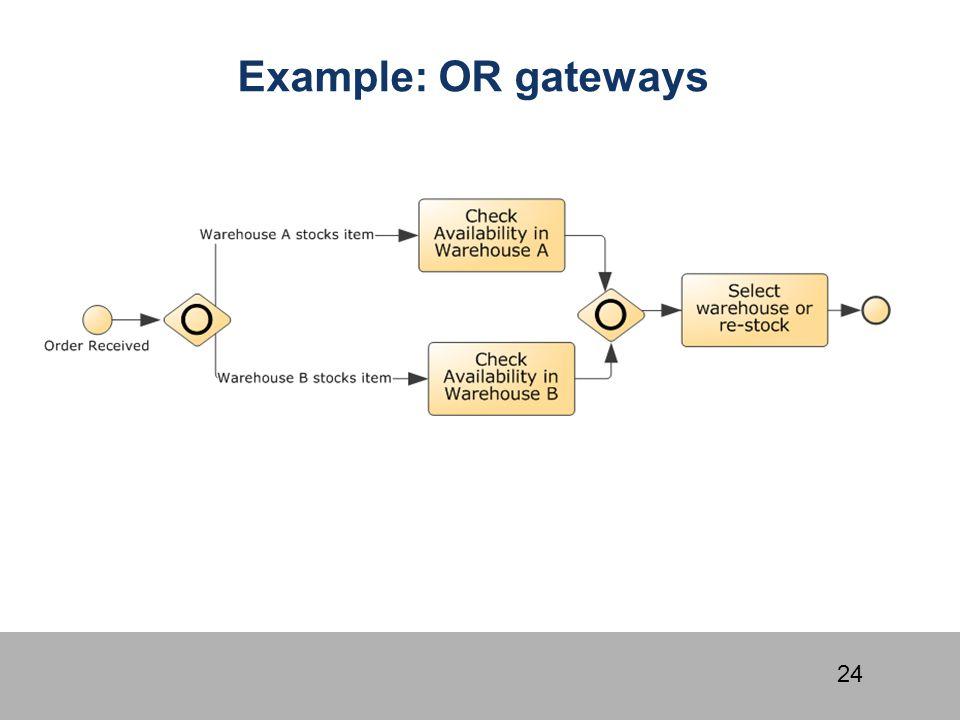 Example: OR gateways