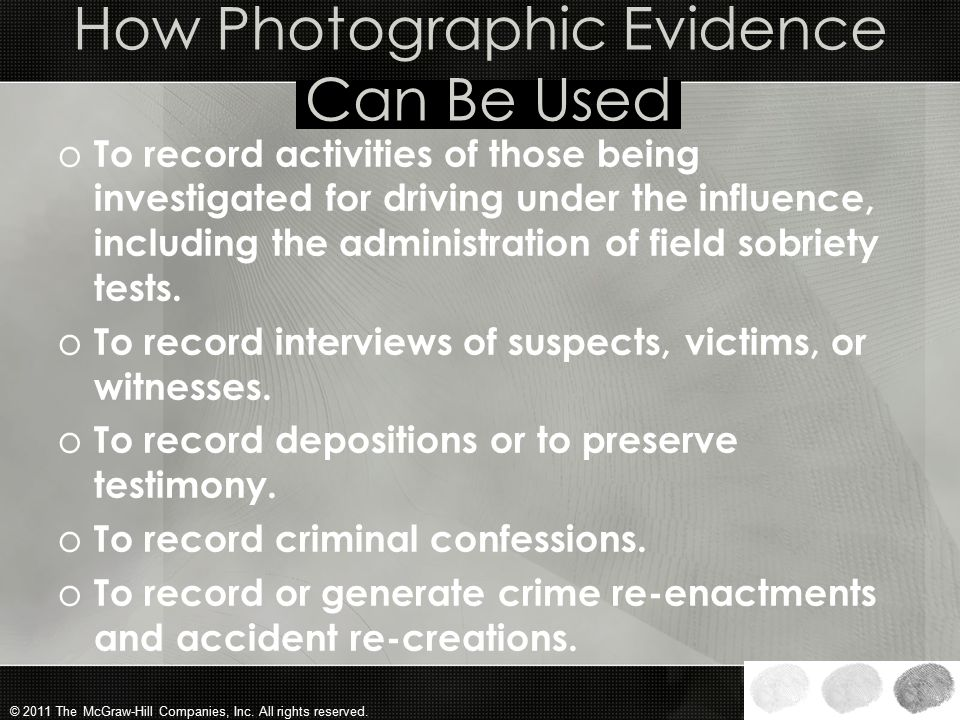 How Photographic Evidence Can Be Used