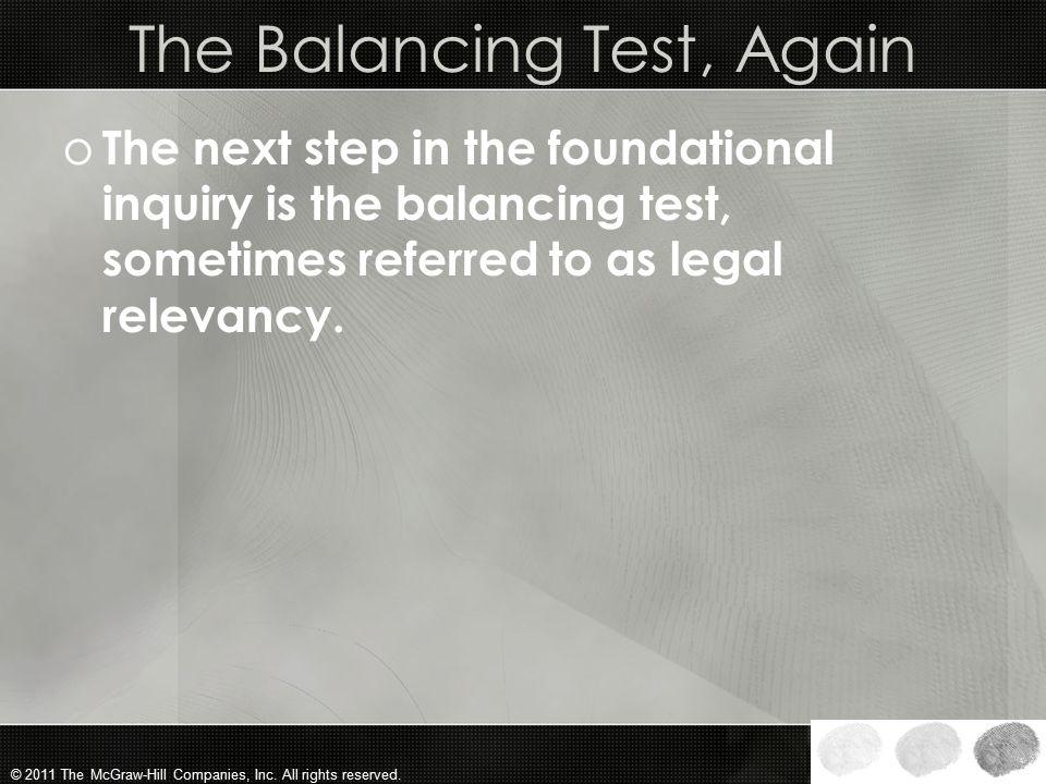 The Balancing Test, Again