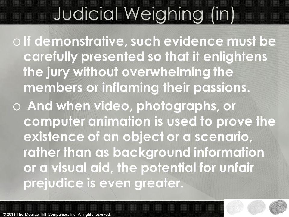 Judicial Weighing (in)