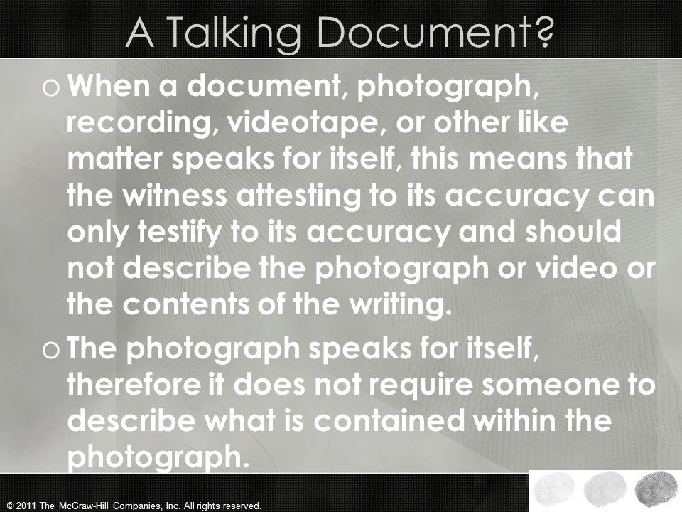 A Talking Document