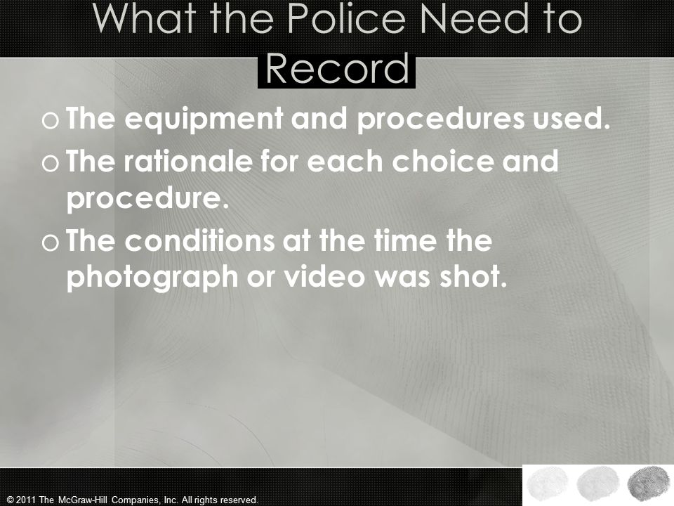 What the Police Need to Record
