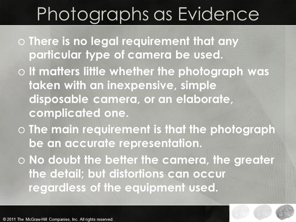 Photographs as Evidence