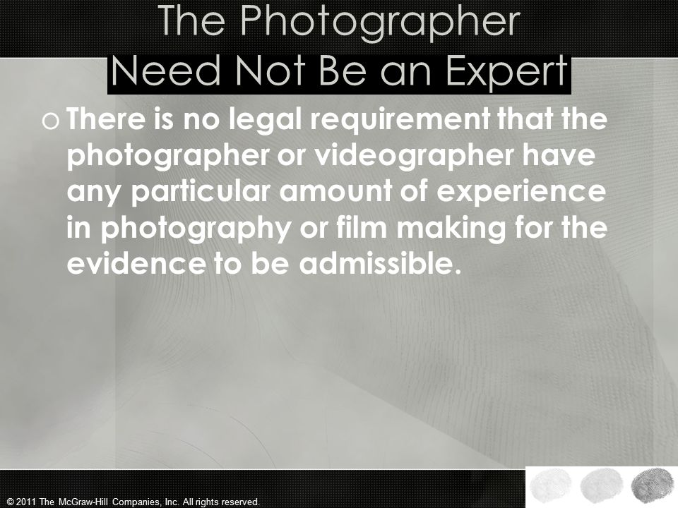 The Photographer Need Not Be an Expert