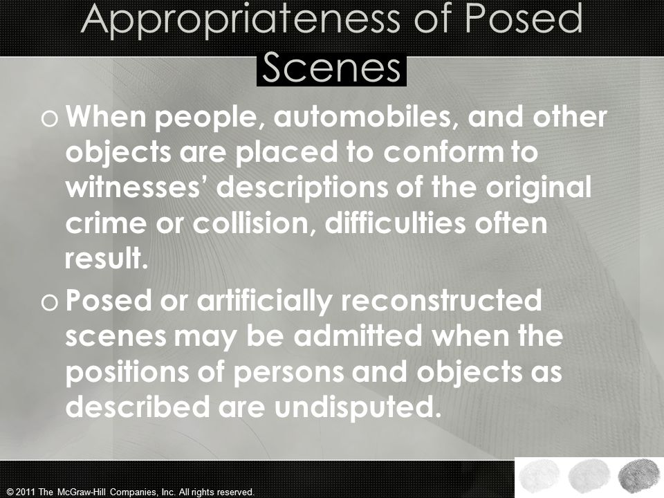 Appropriateness of Posed Scenes