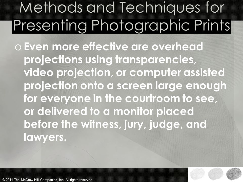 Methods and Techniques for Presenting Photographic Prints