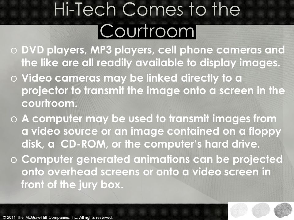 Hi-Tech Comes to the Courtroom