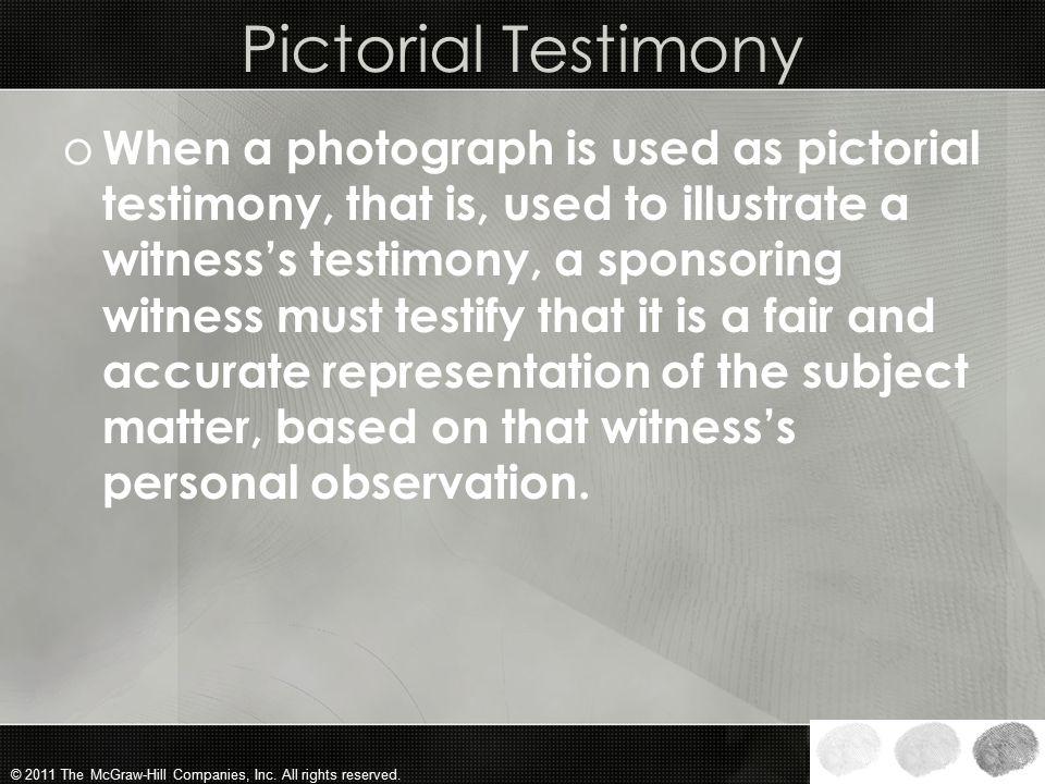 Pictorial Testimony