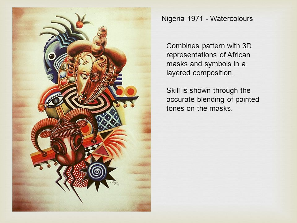 Nigeria 1971 - Watercolours