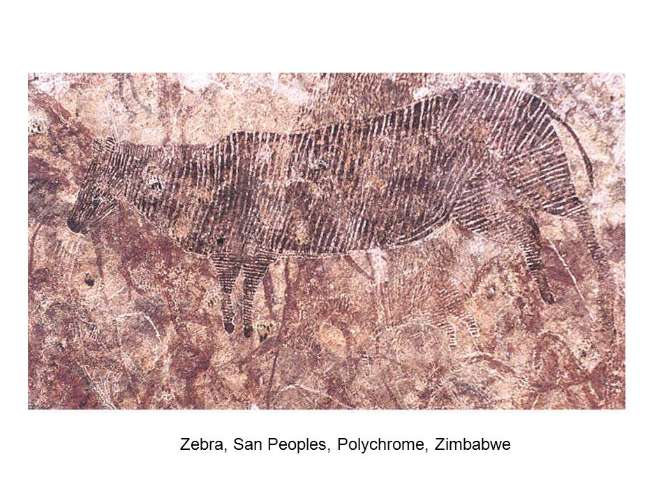 Zebra, San Peoples, Polychrome, Zimbabwe