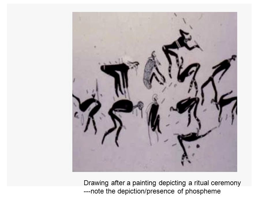 Drawing after a painting depicting a ritual ceremony