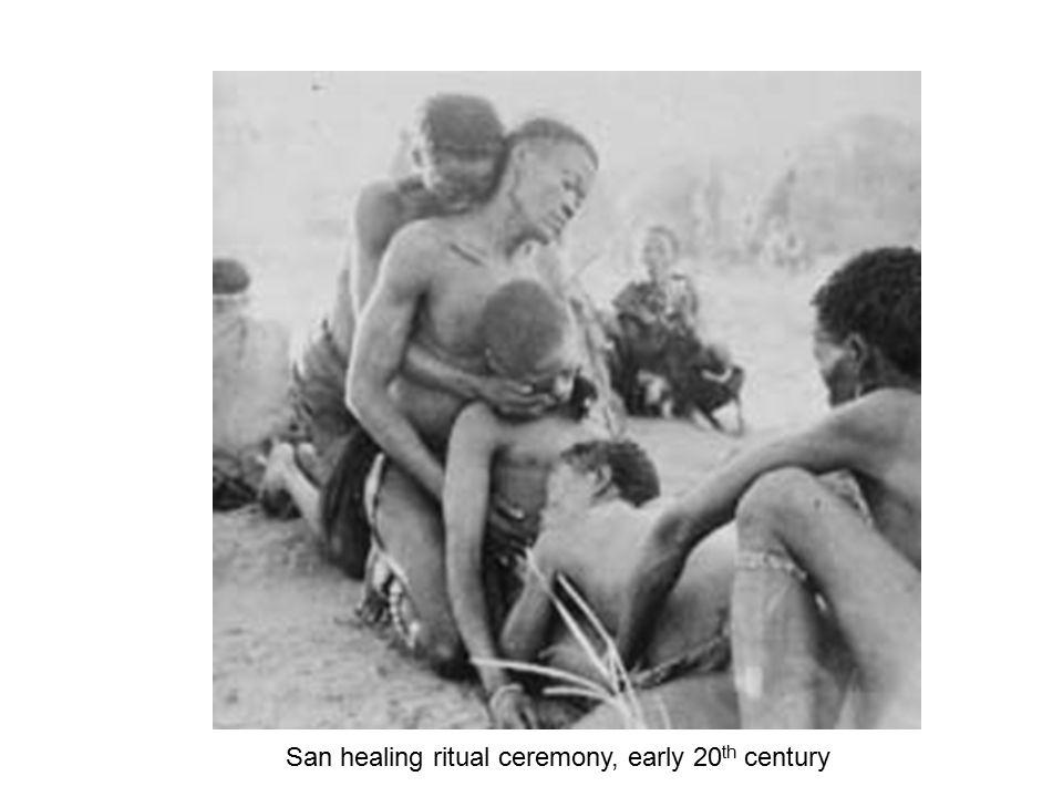 San healing ritual ceremony, early 20th century