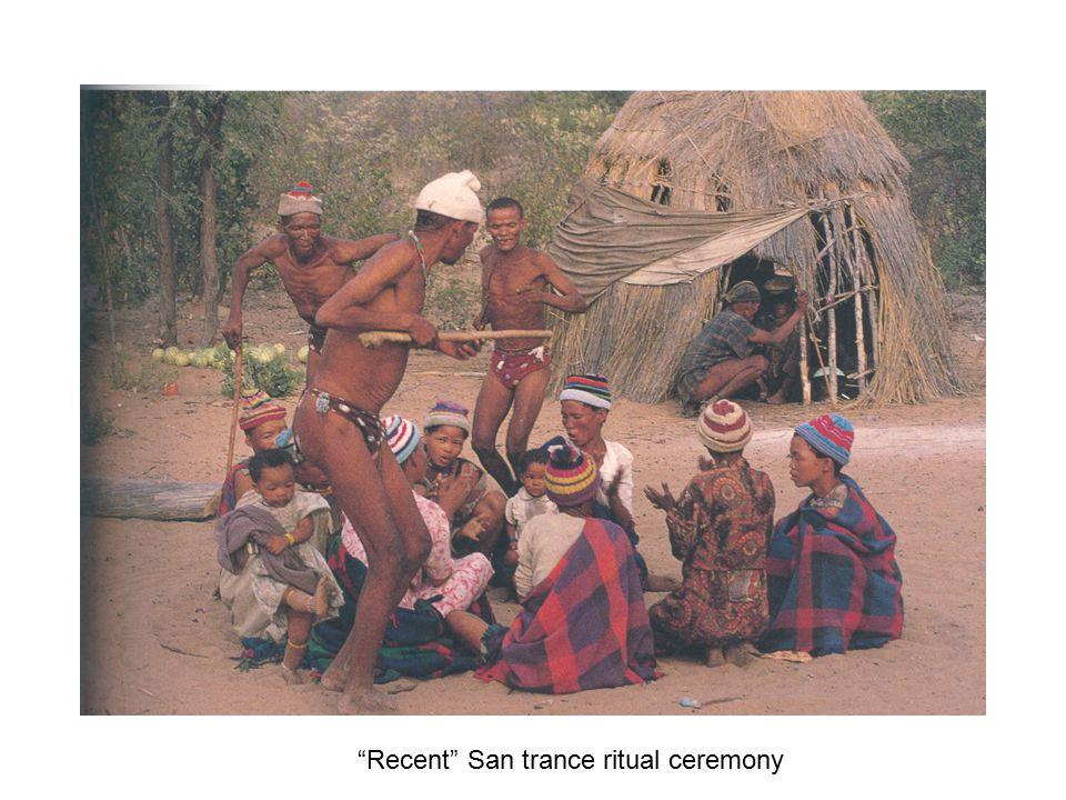 Recent San trance ritual ceremony