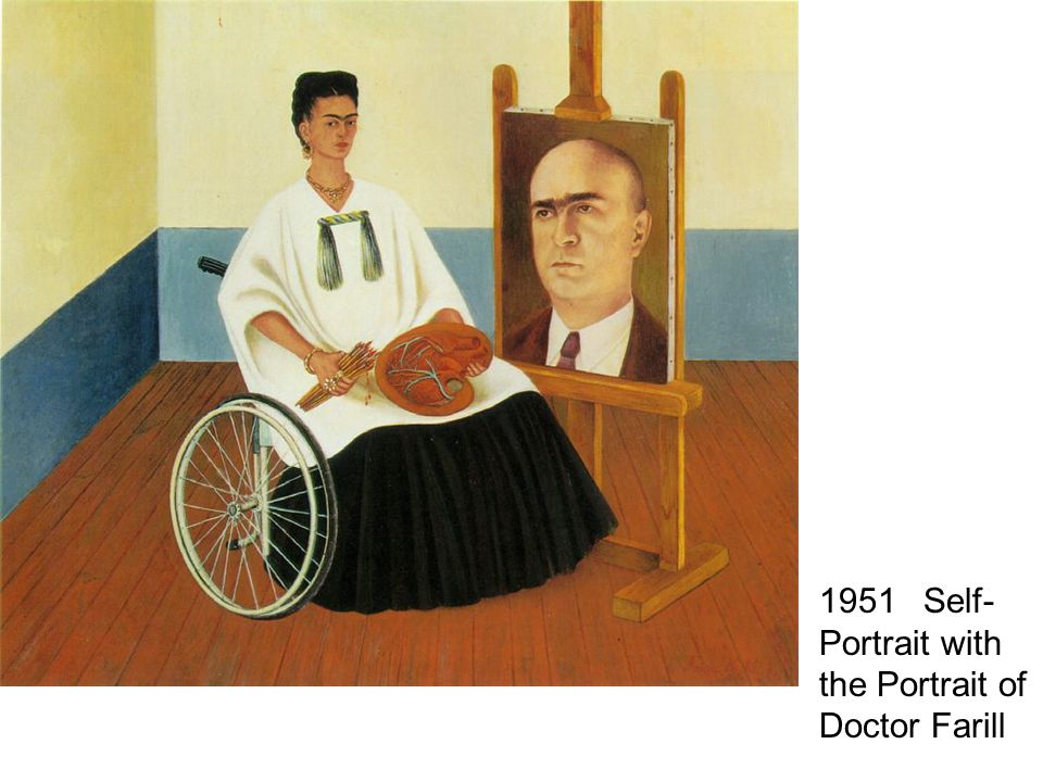 1951 Self-Portrait with the Portrait of Doctor Farill
