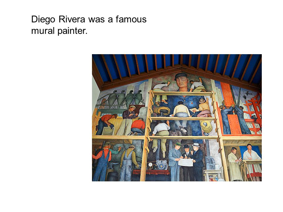 Frida kahlo the self biographical painter ppt download for Diego rivera famous mural