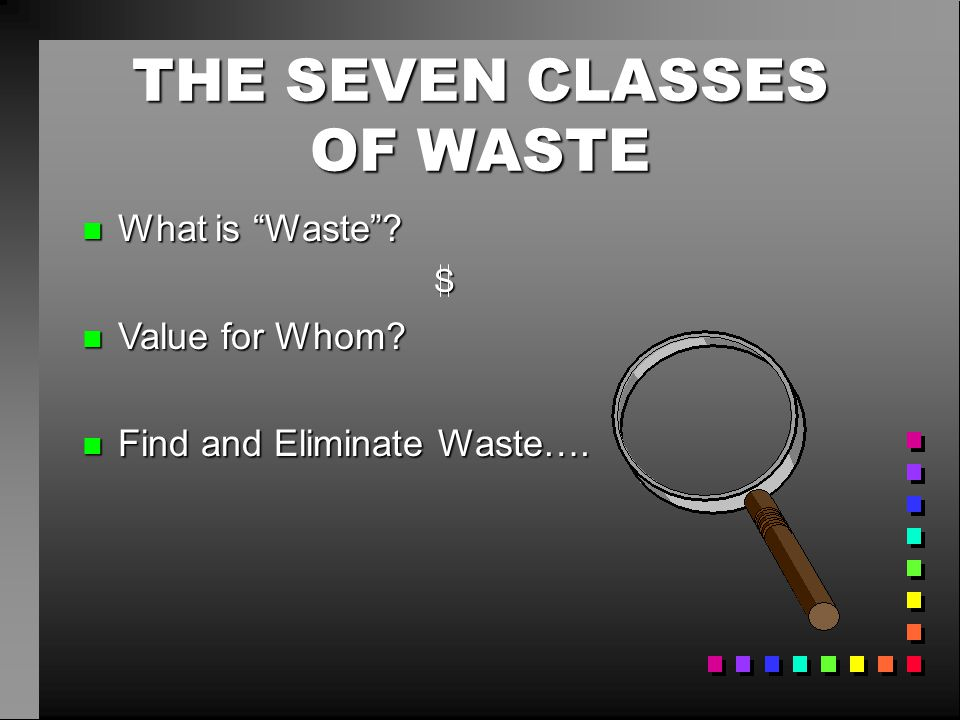 THE SEVEN CLASSES OF WASTE