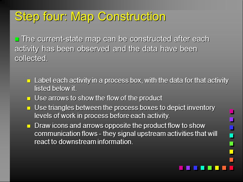 Step four: Map Construction