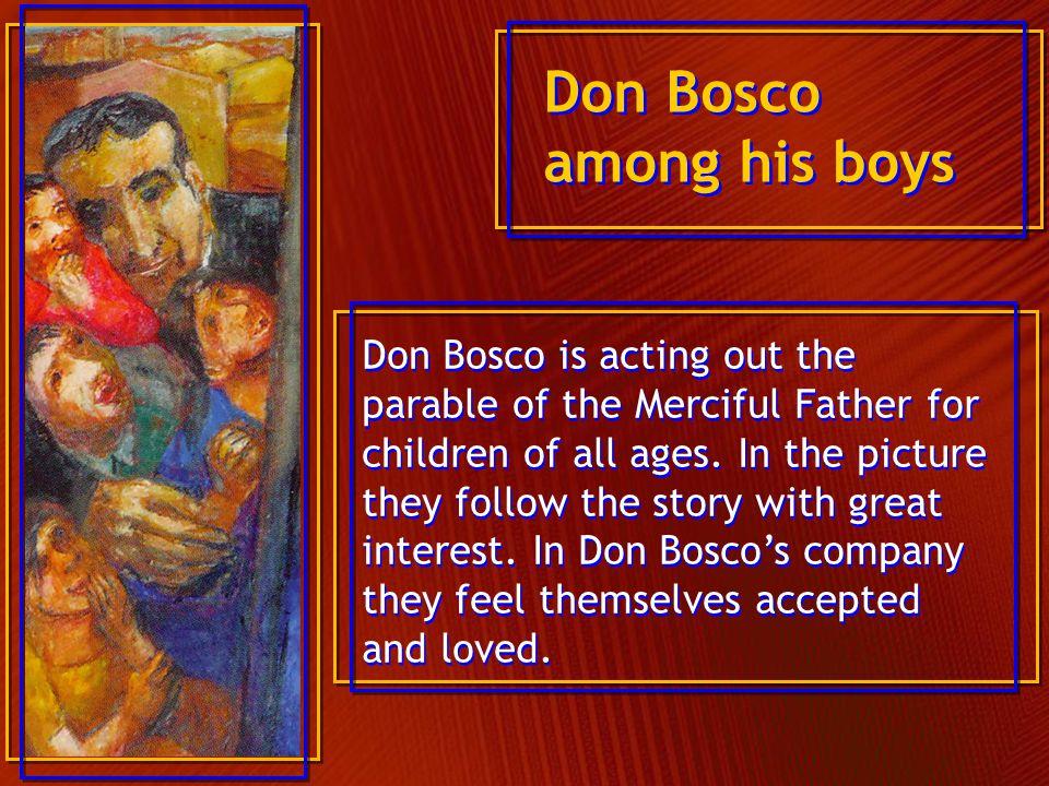 Don Bosco among his boys