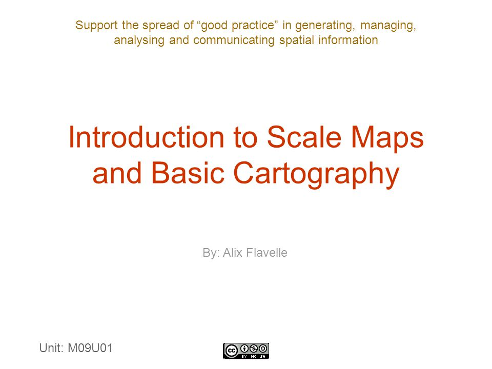 Introduction to Scale Maps and Basic Cartography