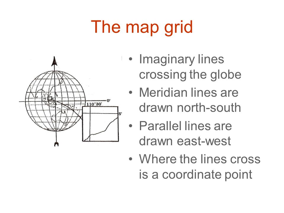 The map grid Imaginary lines crossing the globe