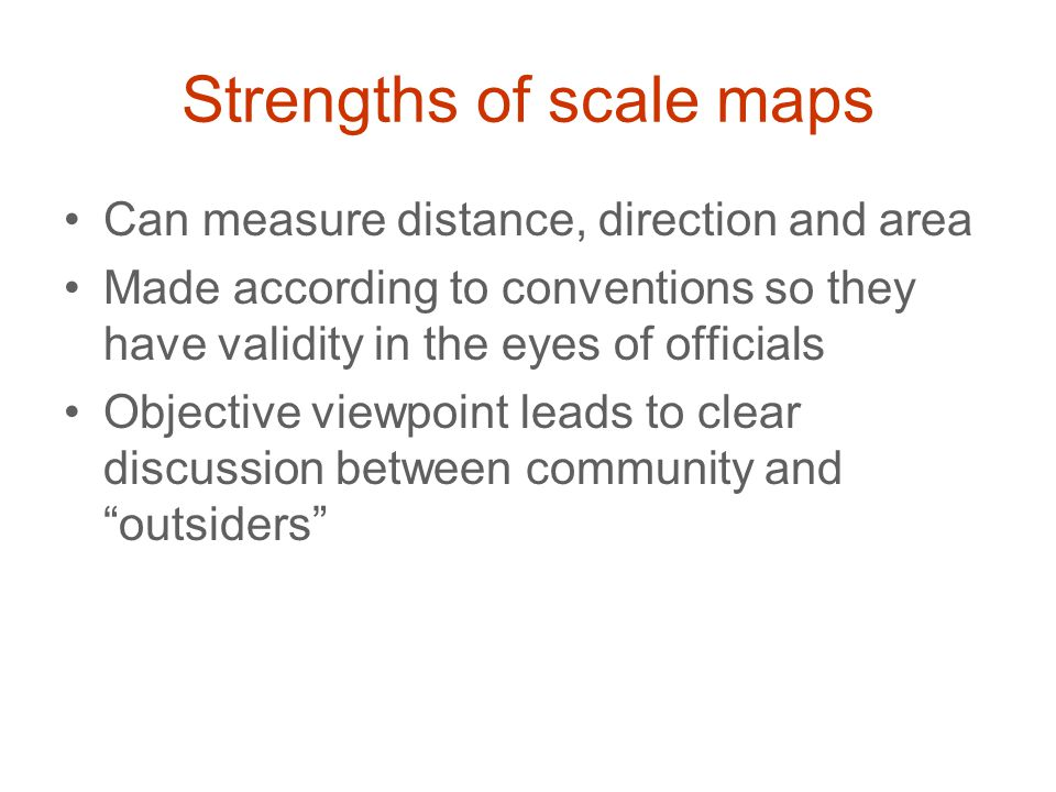 Strengths of scale maps