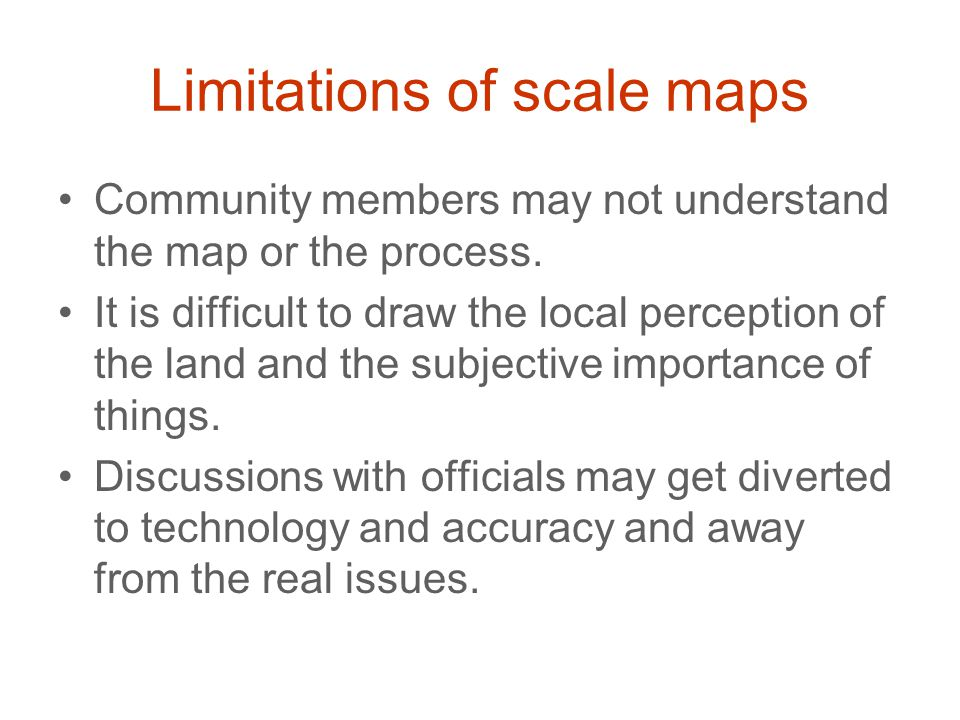 Limitations of scale maps