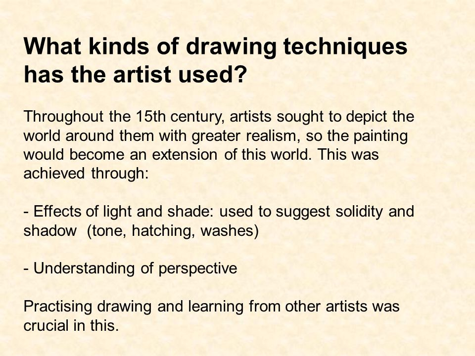What kinds of drawing techniques has the artist used