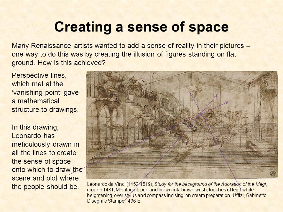 Creating a sense of space
