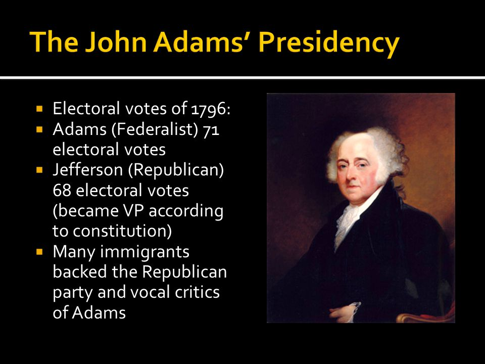 The John Adams' Presidency