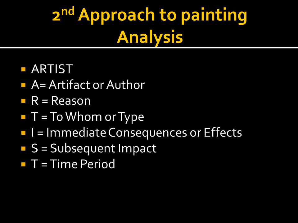 2nd Approach to painting Analysis