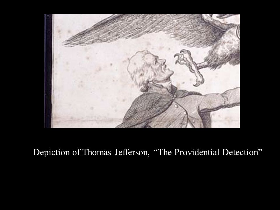 Depiction of Thomas Jefferson, The Providential Detection