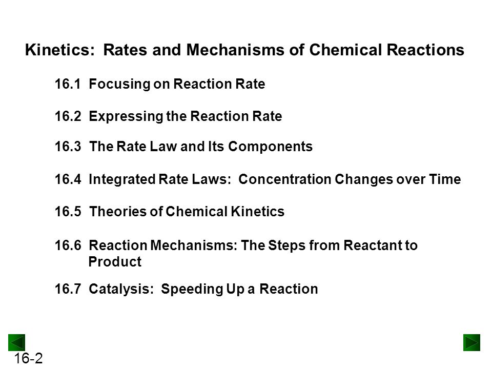 Kinetics: Rates and Mechanisms of Chemical Reactions
