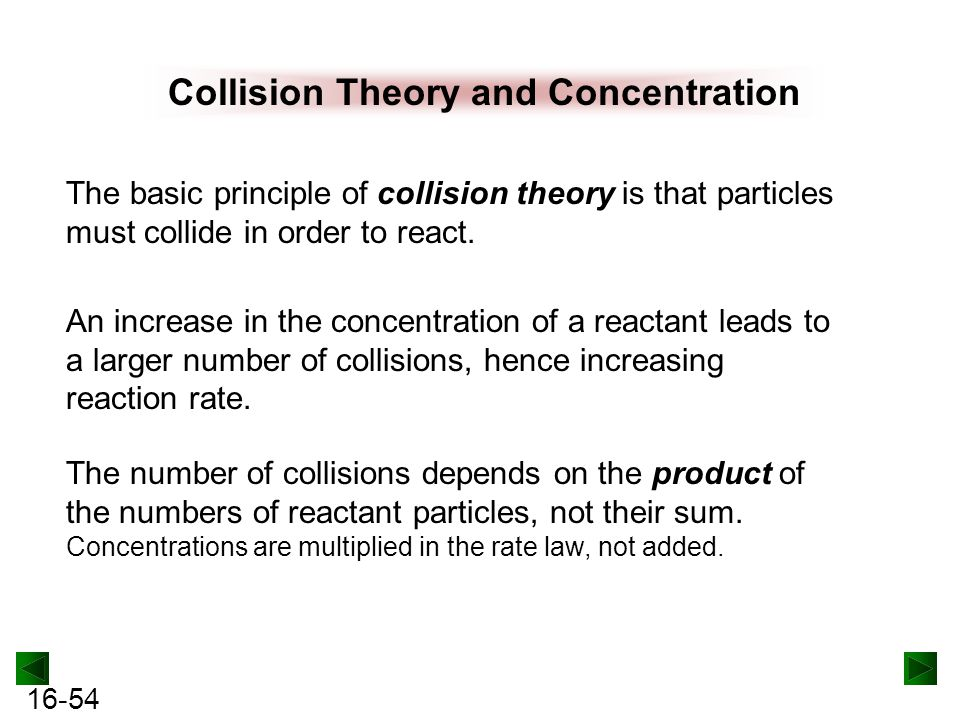 Collision Theory and Concentration