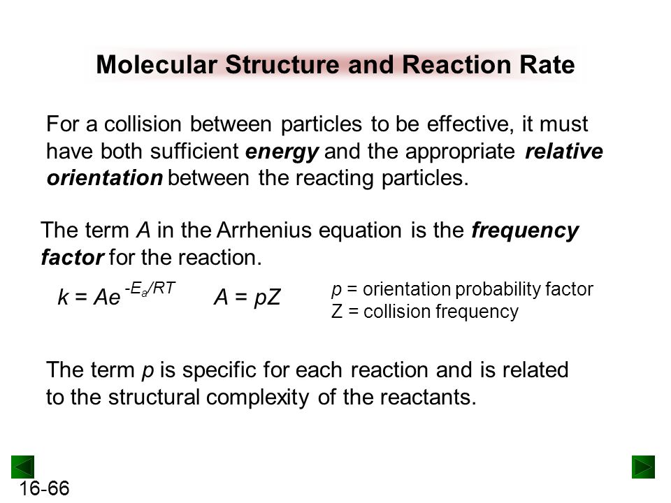 Molecular Structure and Reaction Rate