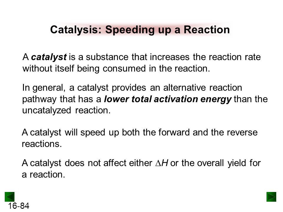 Catalysis: Speeding up a Reaction
