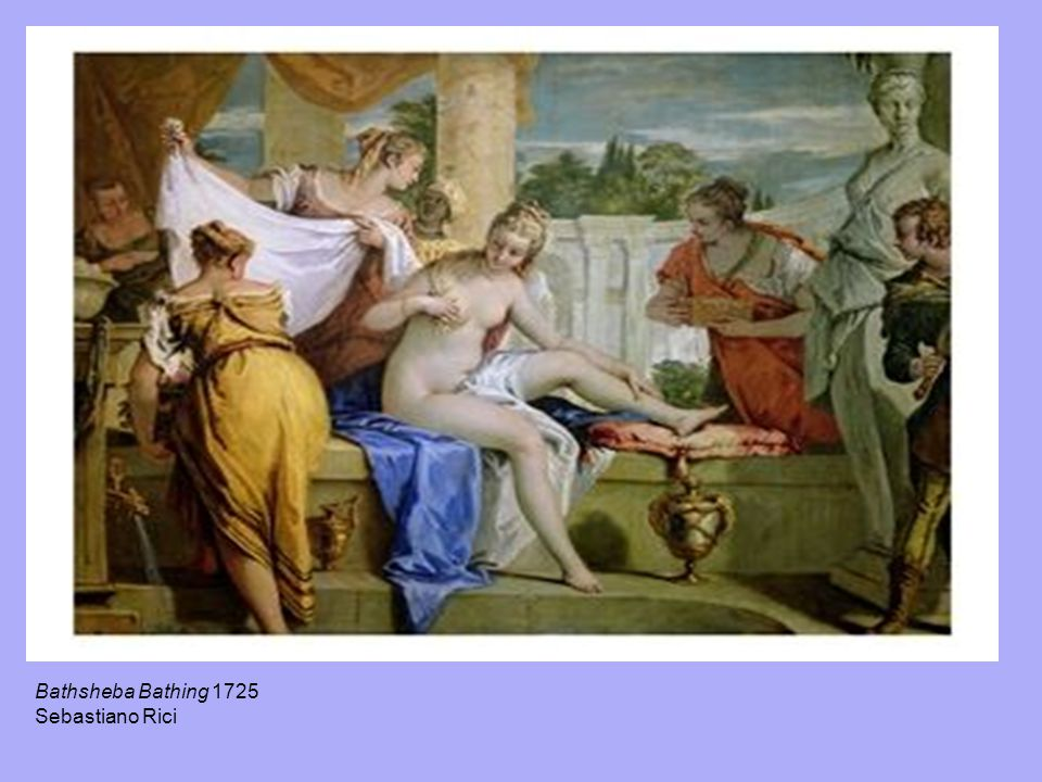 Bathsheba Bathing 1725 Sebastiano Rici
