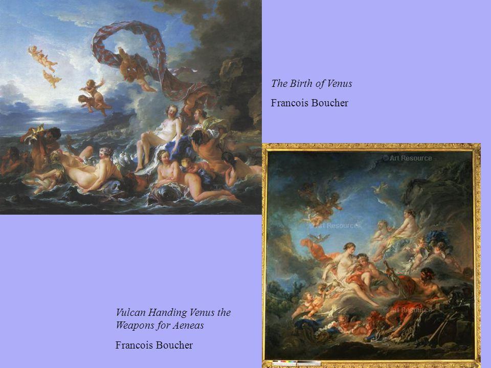 Vulcan Handing Venus the Weapons for Aeneas Francois Boucher