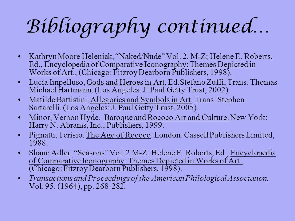 Bibliography continued…