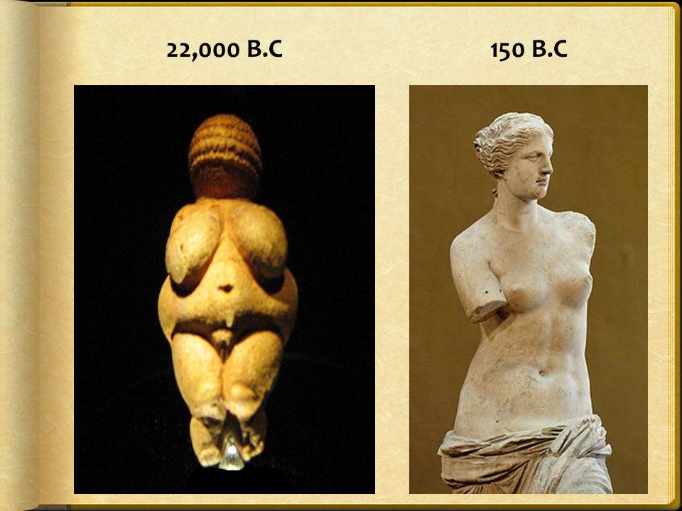 22,000 B.C 150 B.C